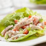 BLT Chicken Salad Lettuce Wraps